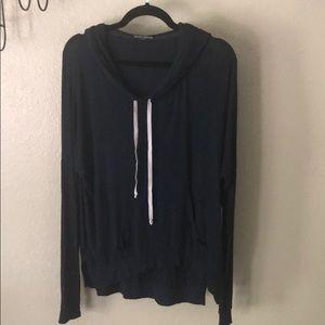 Brandy Melville High Low pullover hoodie top